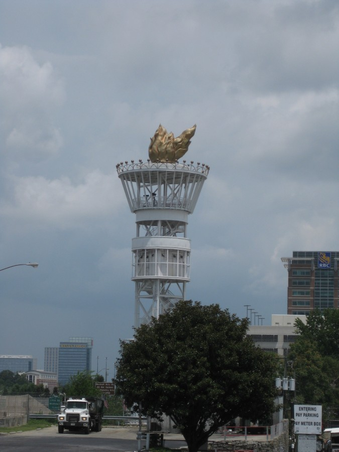 The Atlanta Olympic Flame from 1996, when we lived here. Photo: Jenny Williams