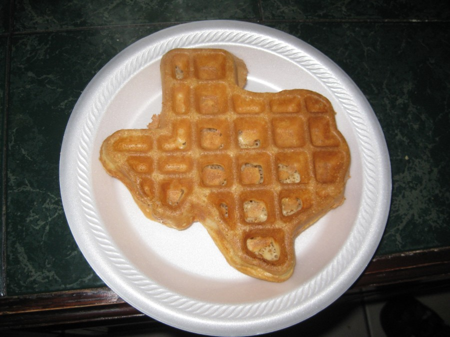 Everything is bigger in Texas. Except the waffles. Photo: Jenny Williams