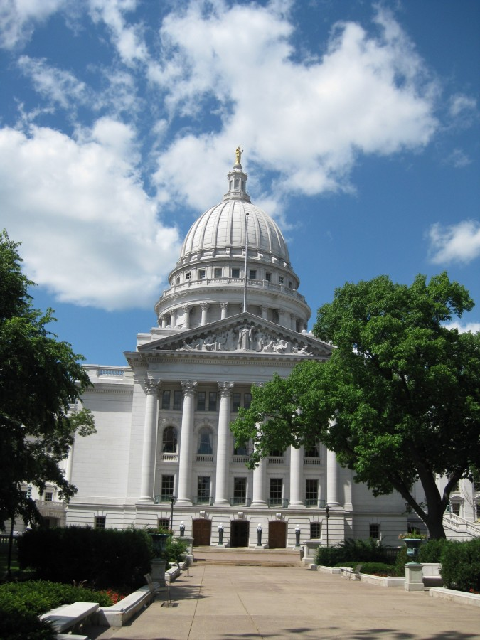 The Capitol Building in Madison, Wisconsin. Notice its resemblance to the United States Capitol. Photo: Jenny Williams