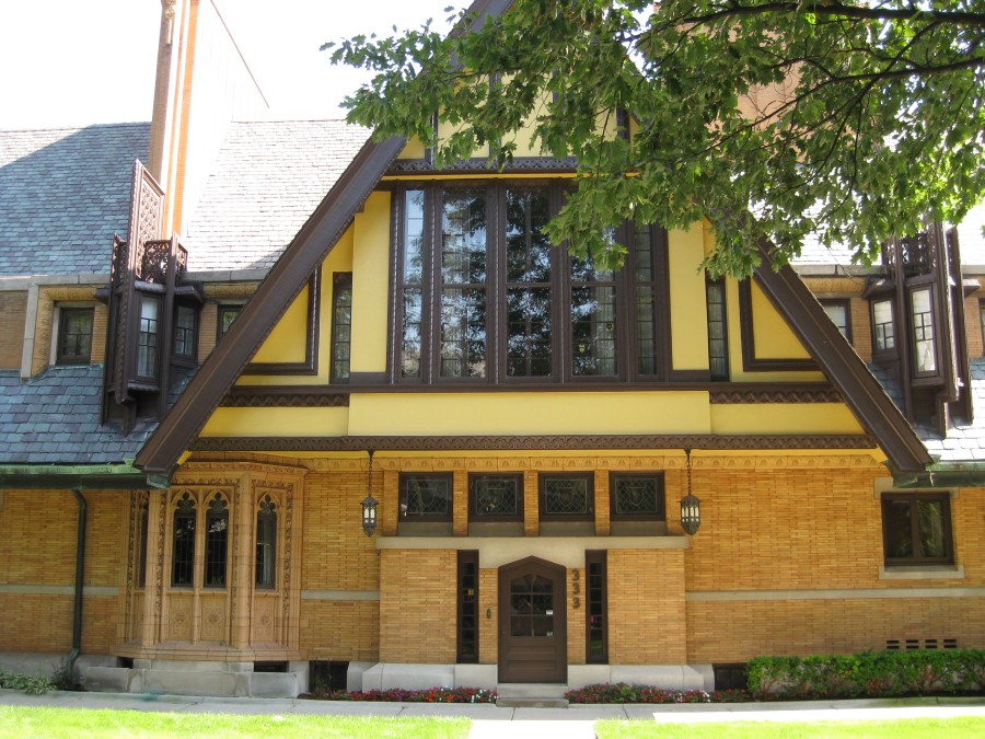 One of the houses in Oak Park, Illinois, designed by Frank Lloyd Wright. Photo: Jenny Williams