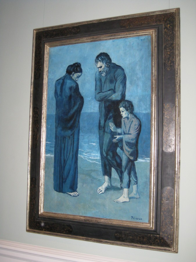 Picasso from his blue period. The angle of the photo was to prevent glare. Photo: Jenny Williams